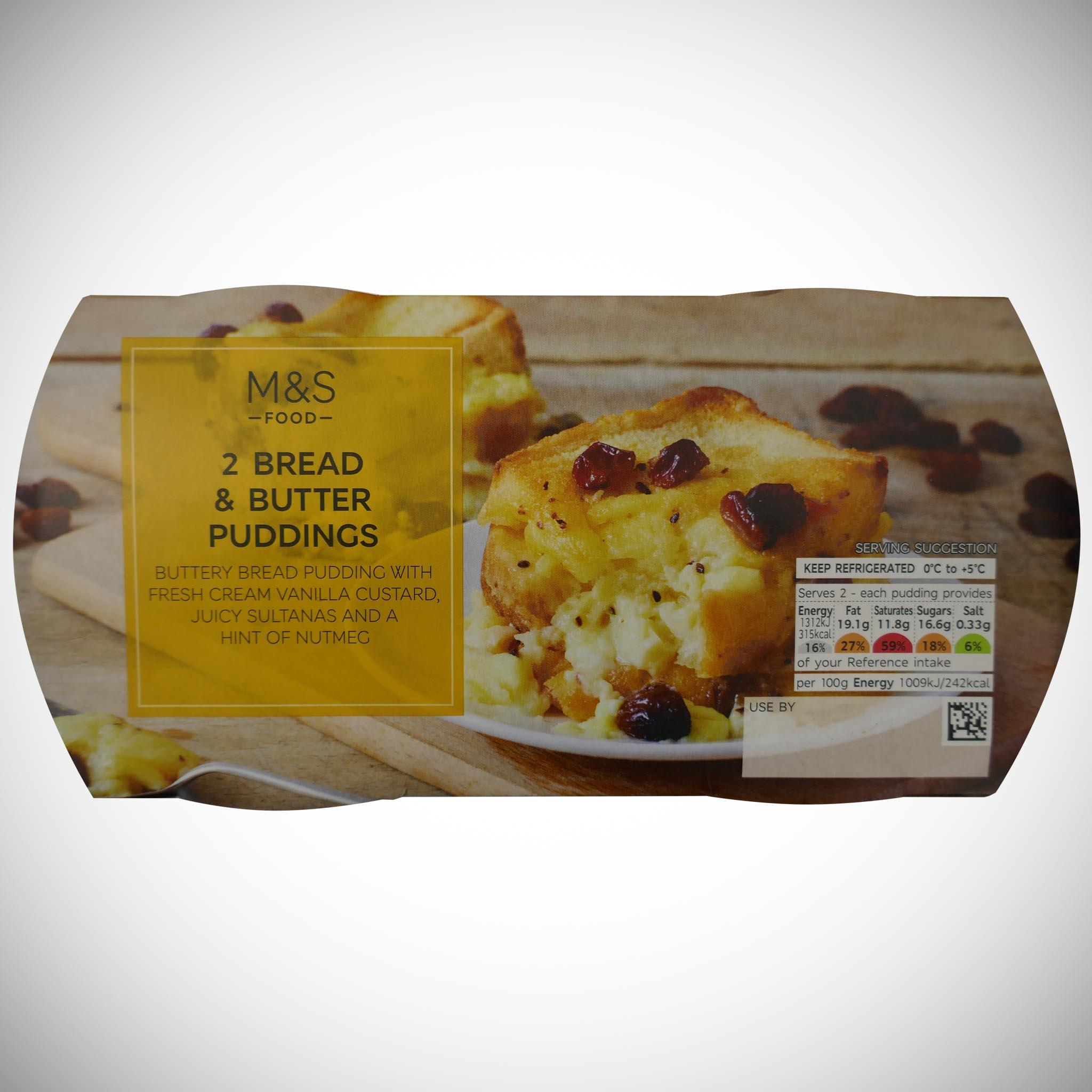 2 Bread & Butter Puddings 260g