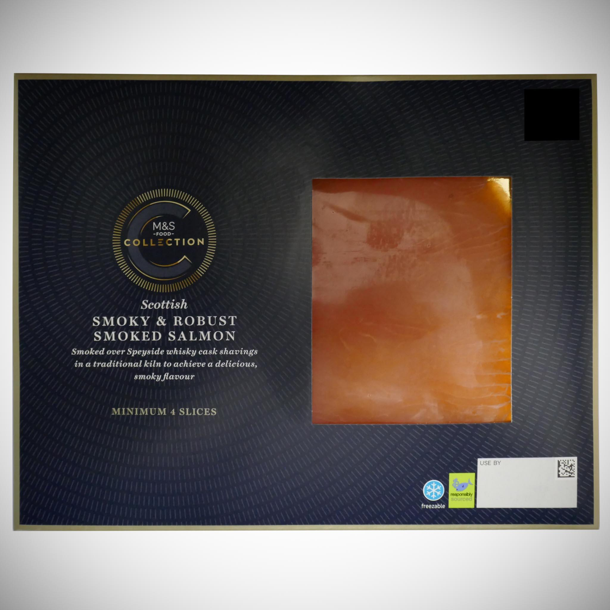Smoky & Robust Scottish Lochmuir Smoked Salmon 100g