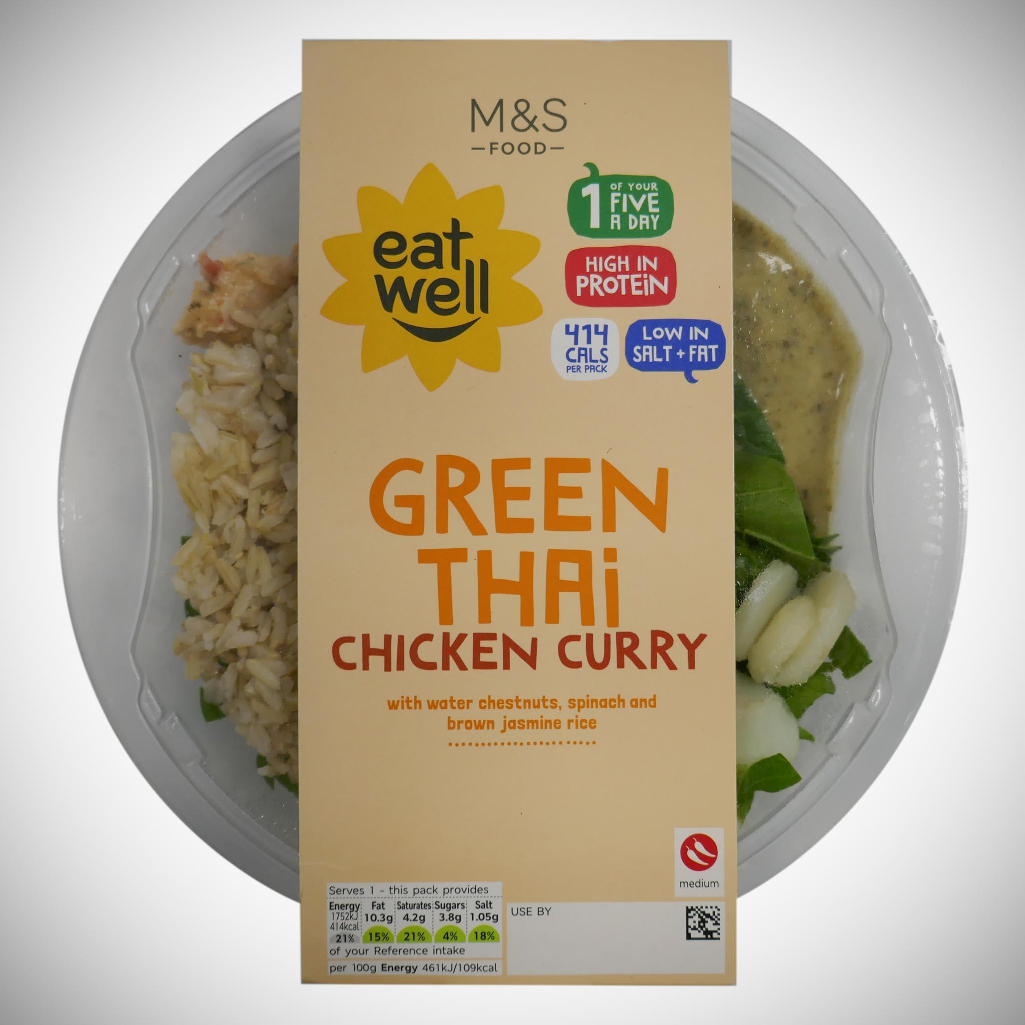 'Eat Well' Green Thai Chicken Curry 380g