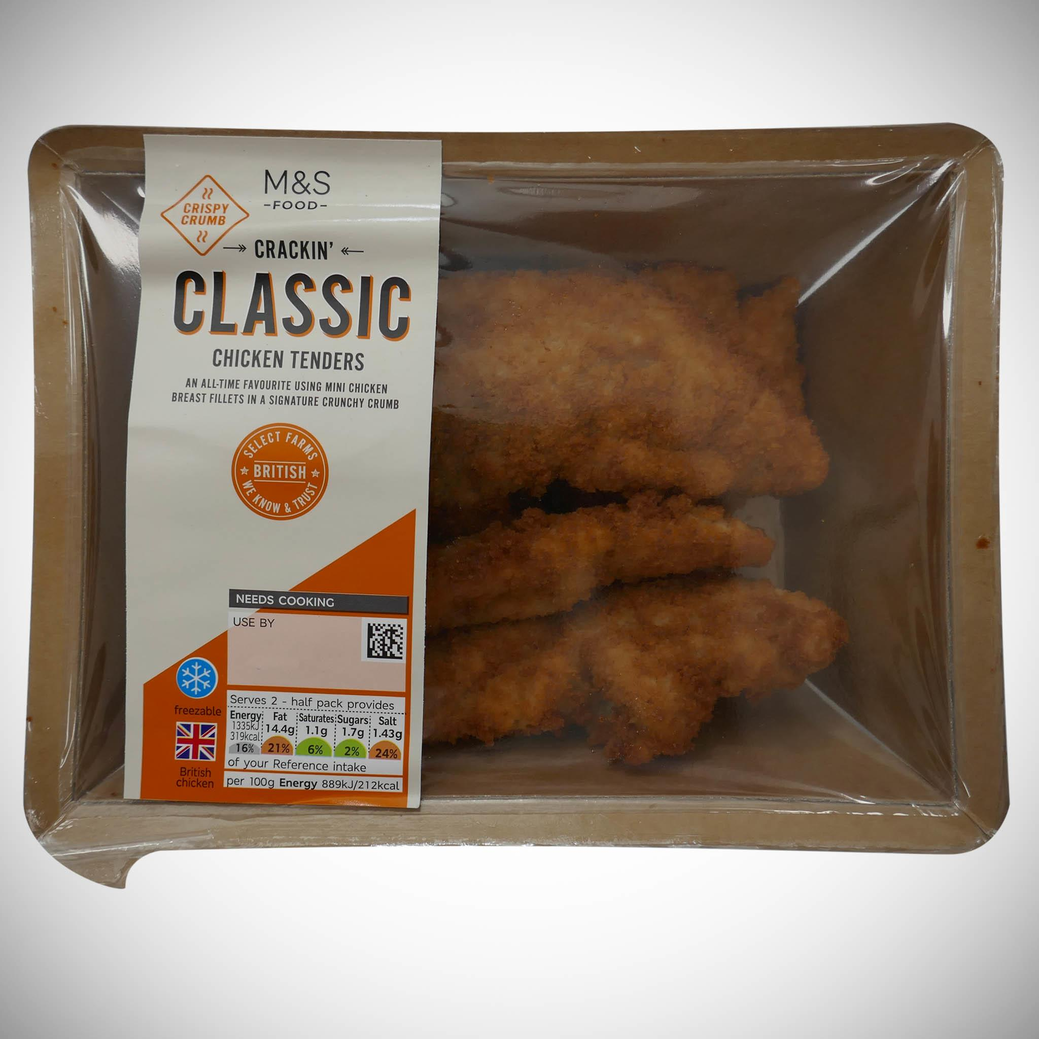 Crispy Breaded Chicken Tenders 300g