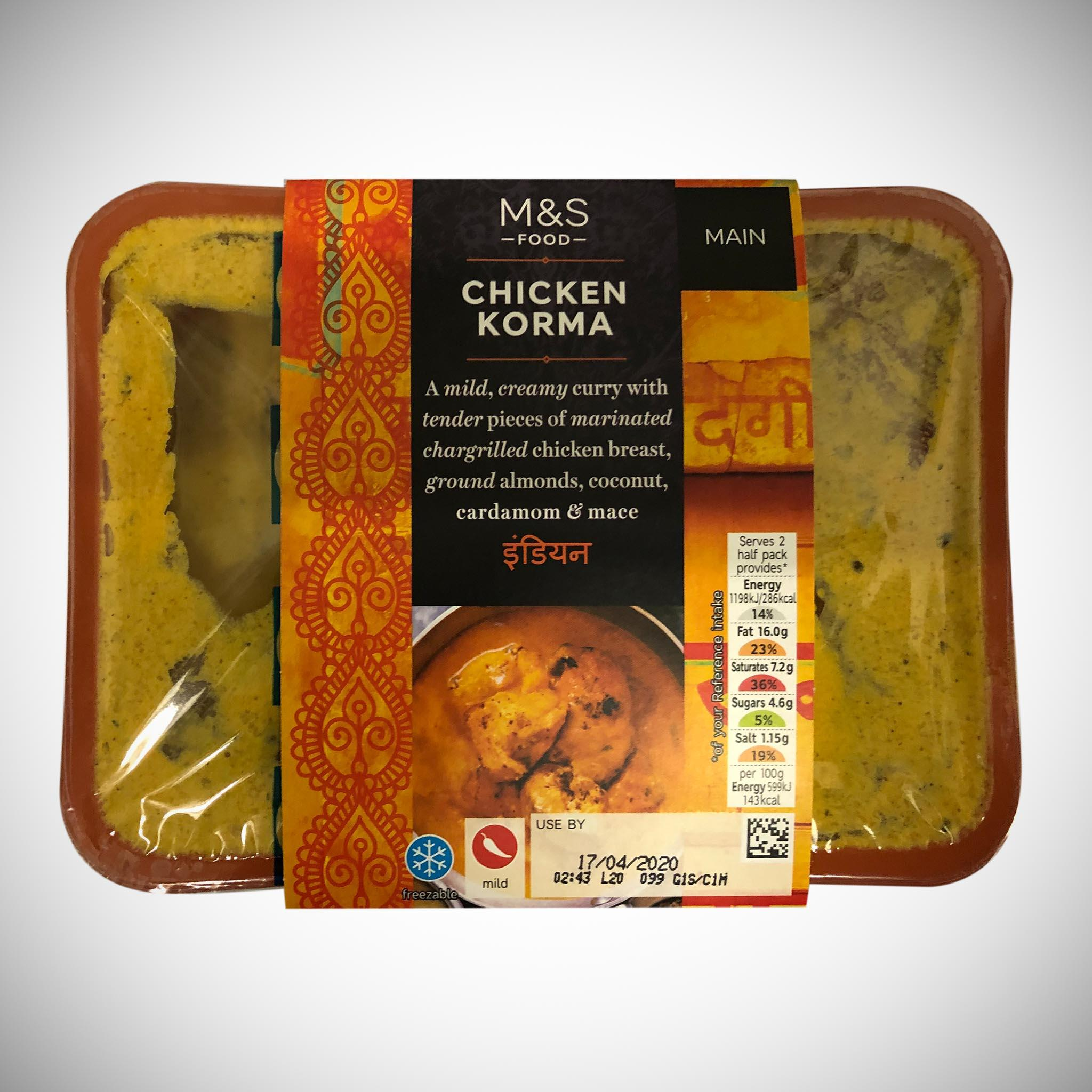 Chicken Korma Curry 400g