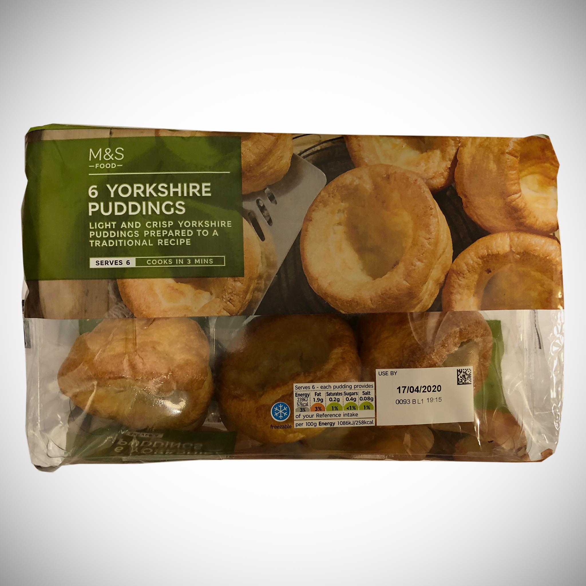 6 Yorkshire Puddings 132g