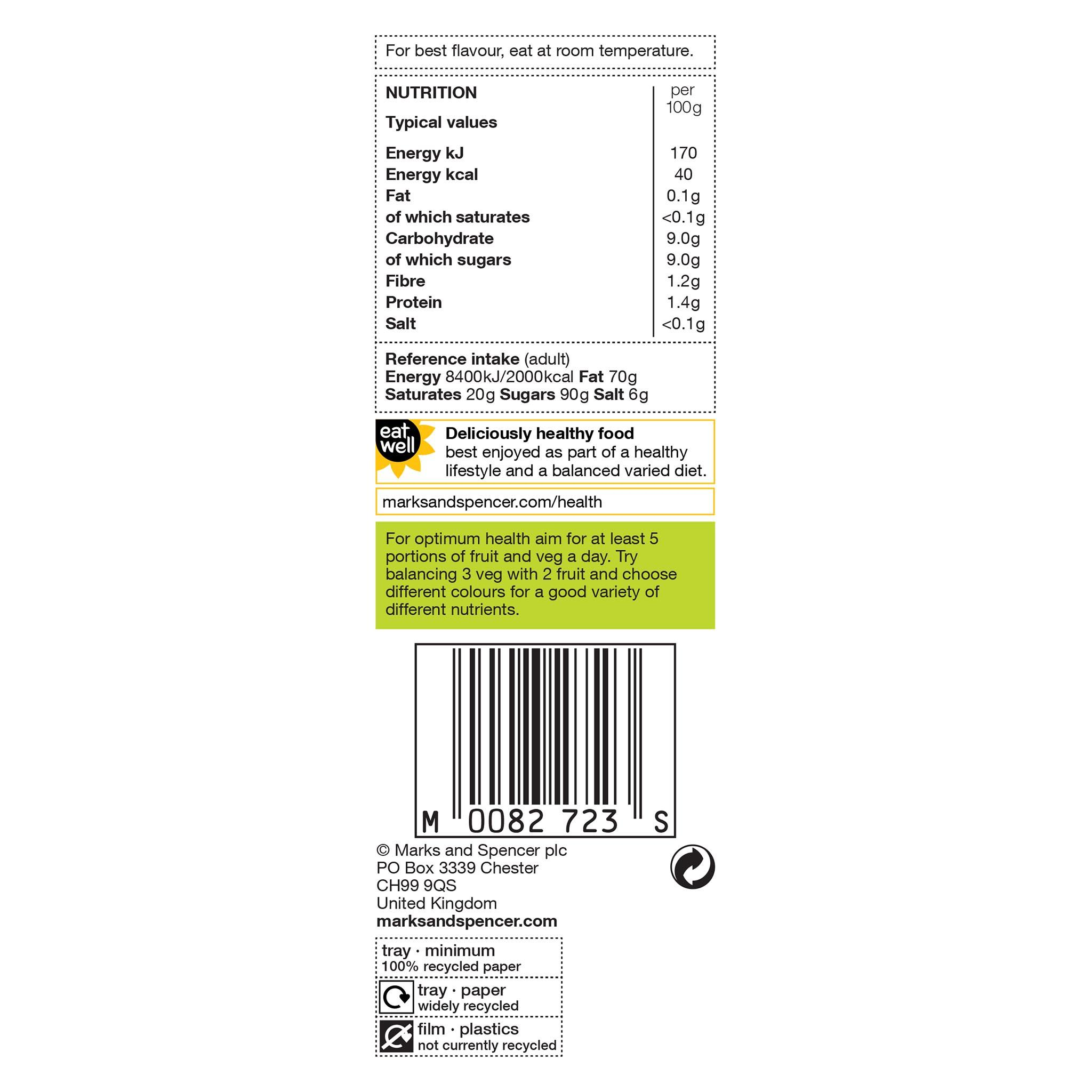 Yellow Nectarines x 4 Label