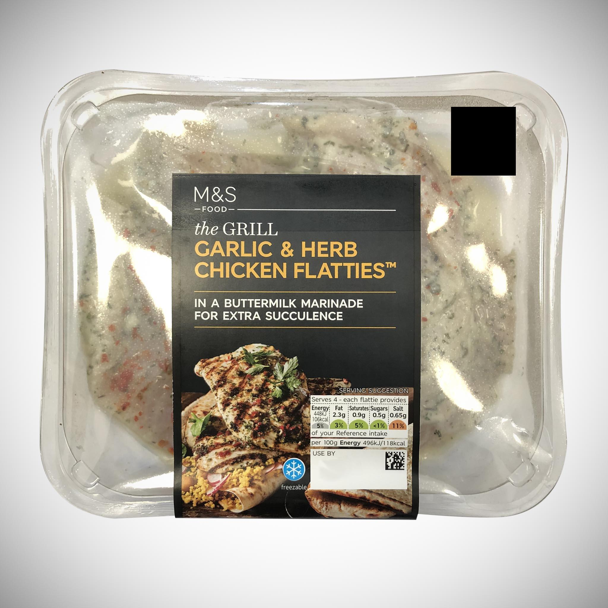 Garlic & Herb Chicken Flatties 361g
