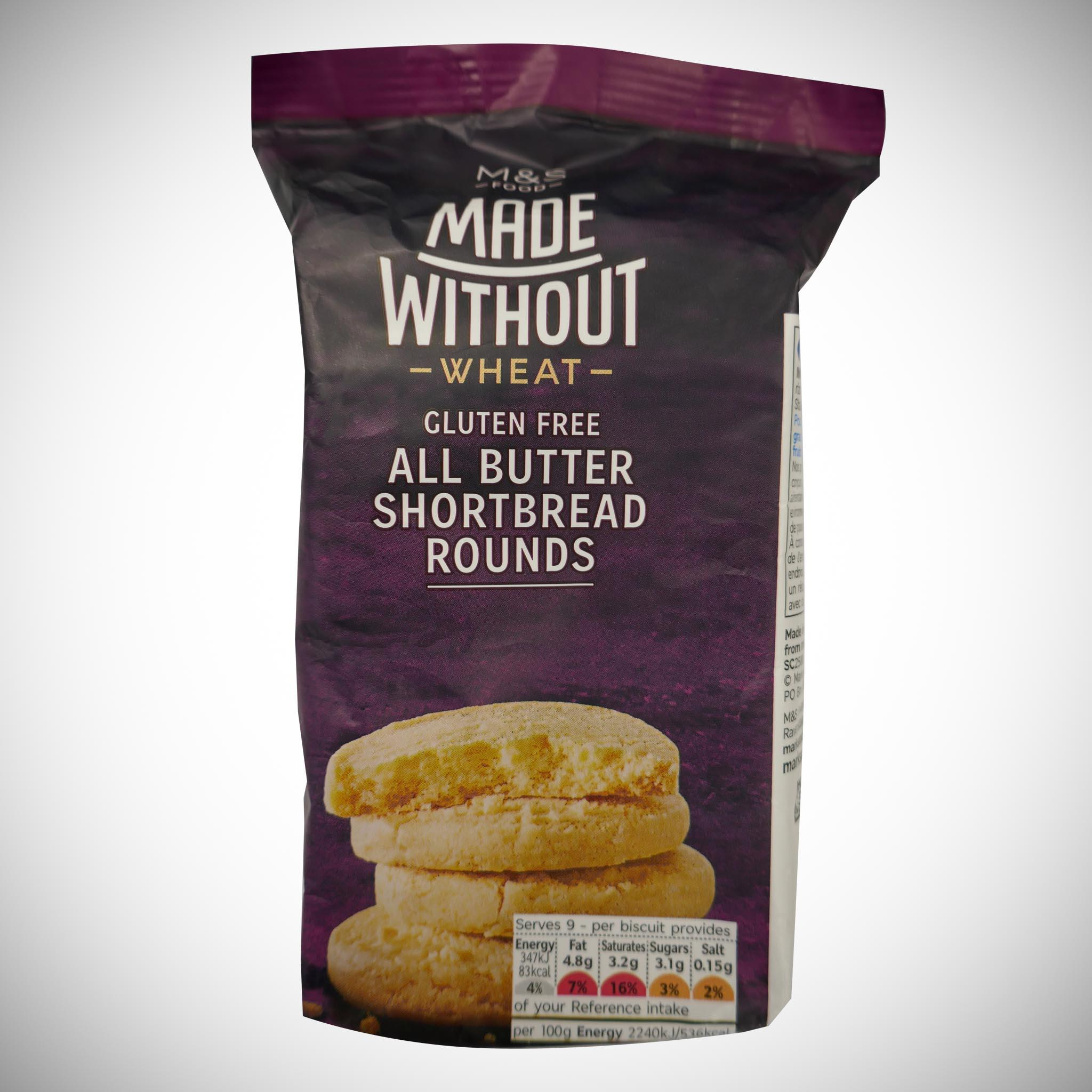 Made Without All Butter Shortbread Rounds 140g