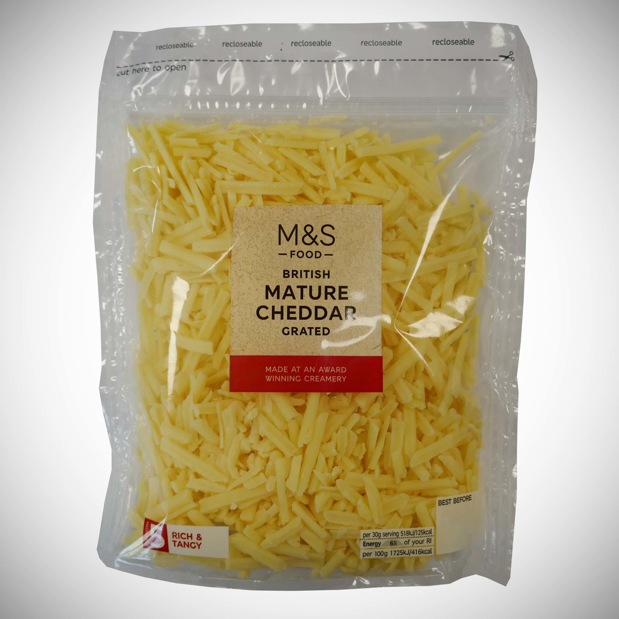 British Mature Cheddar Grated 250g