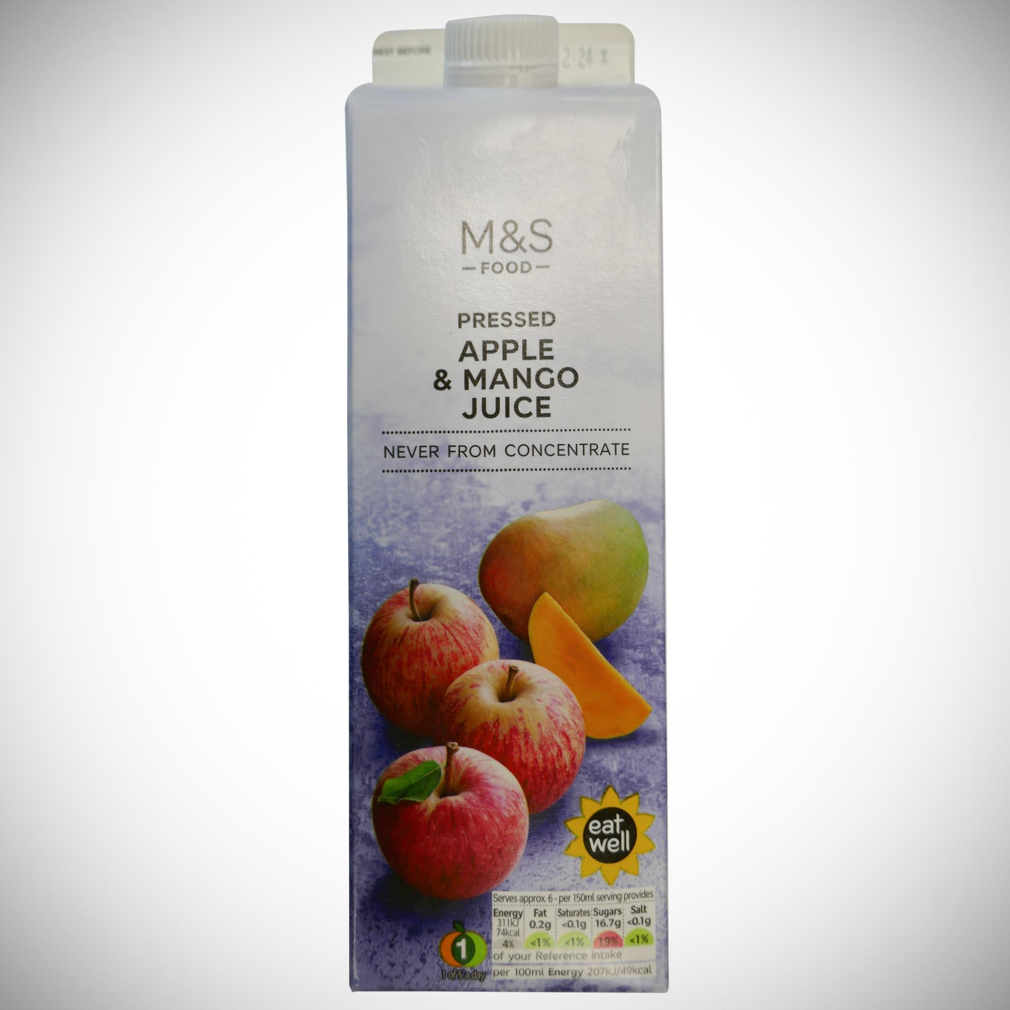 Apple & Mango Juice (Never From Concentrate) 1 litre