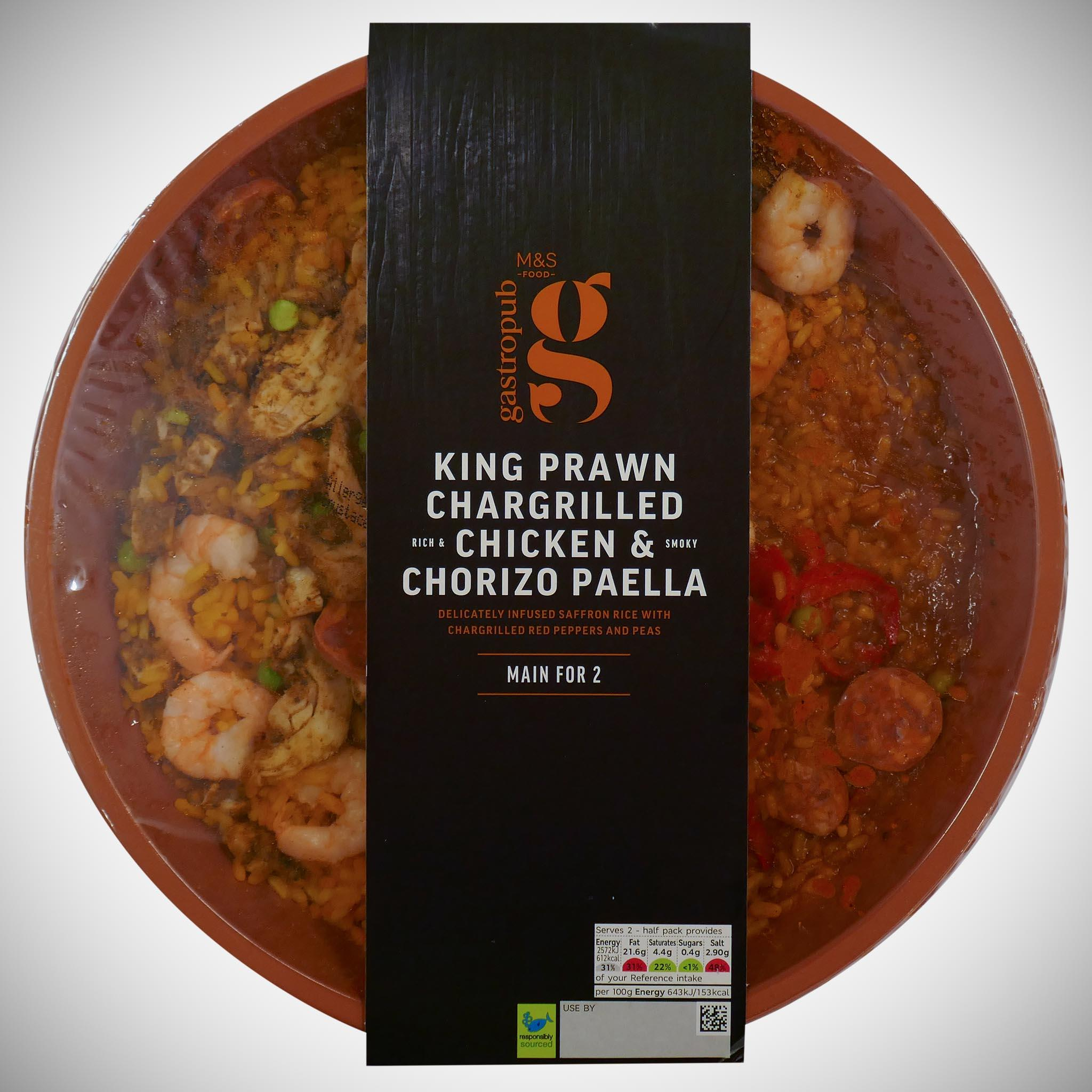 King Prawn, Chargilled Chicken & Chorizo Paella 800g