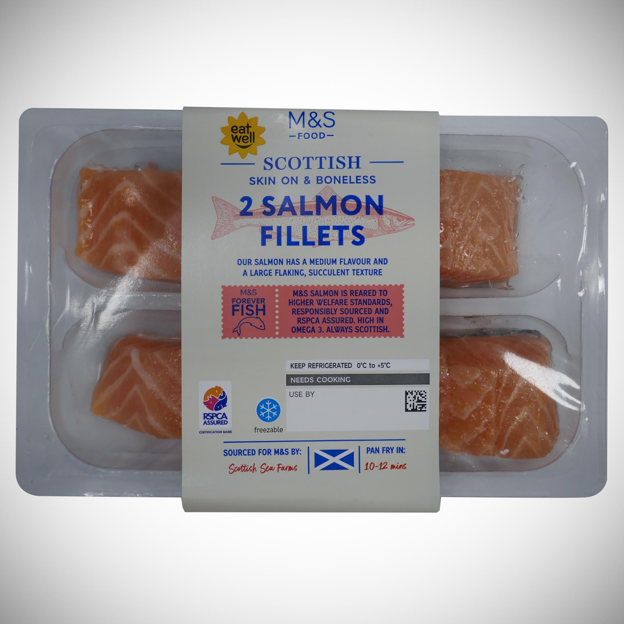 2 Scottish Lochmuir Salmon Fillets 240g
