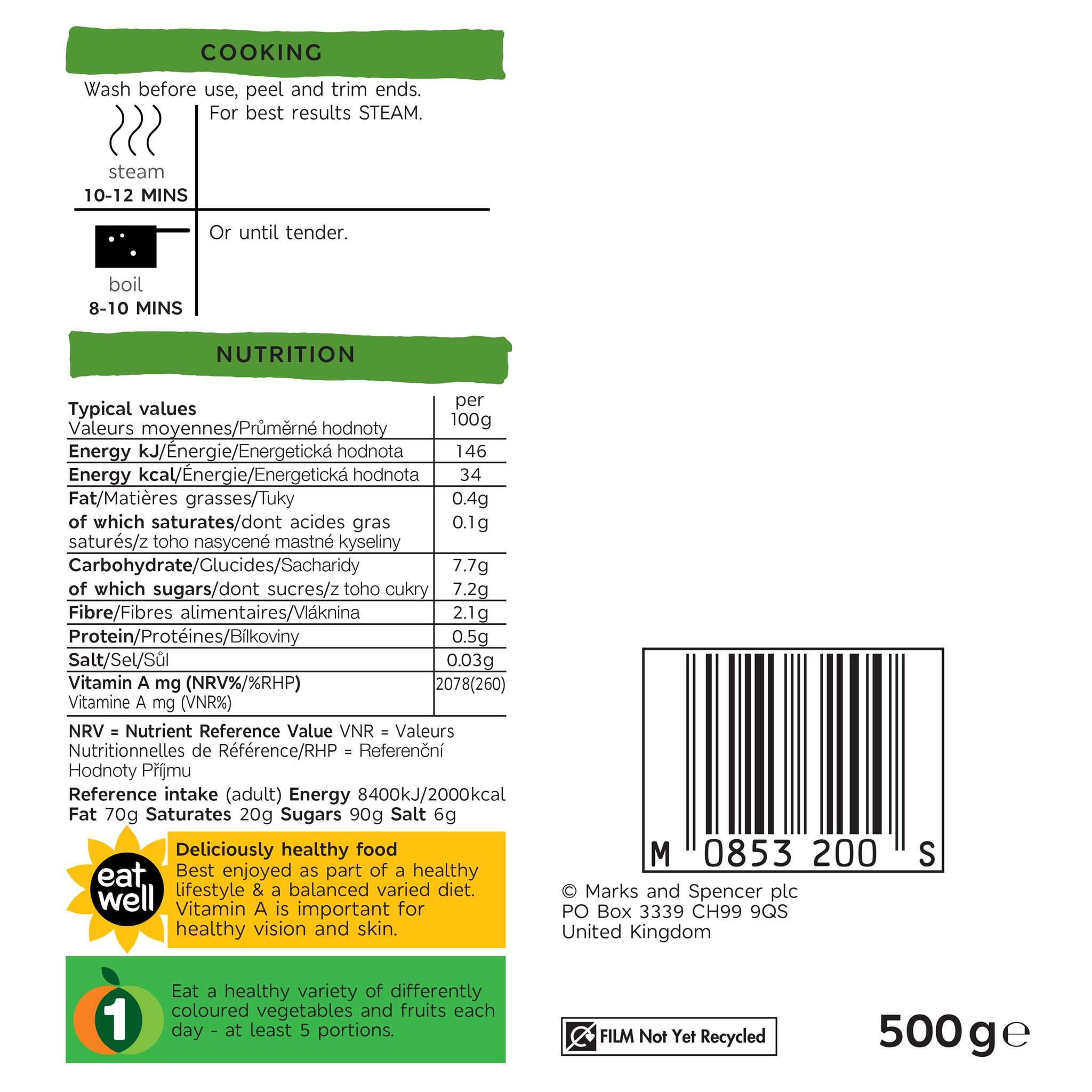 Small Carrot Bag 500g Label