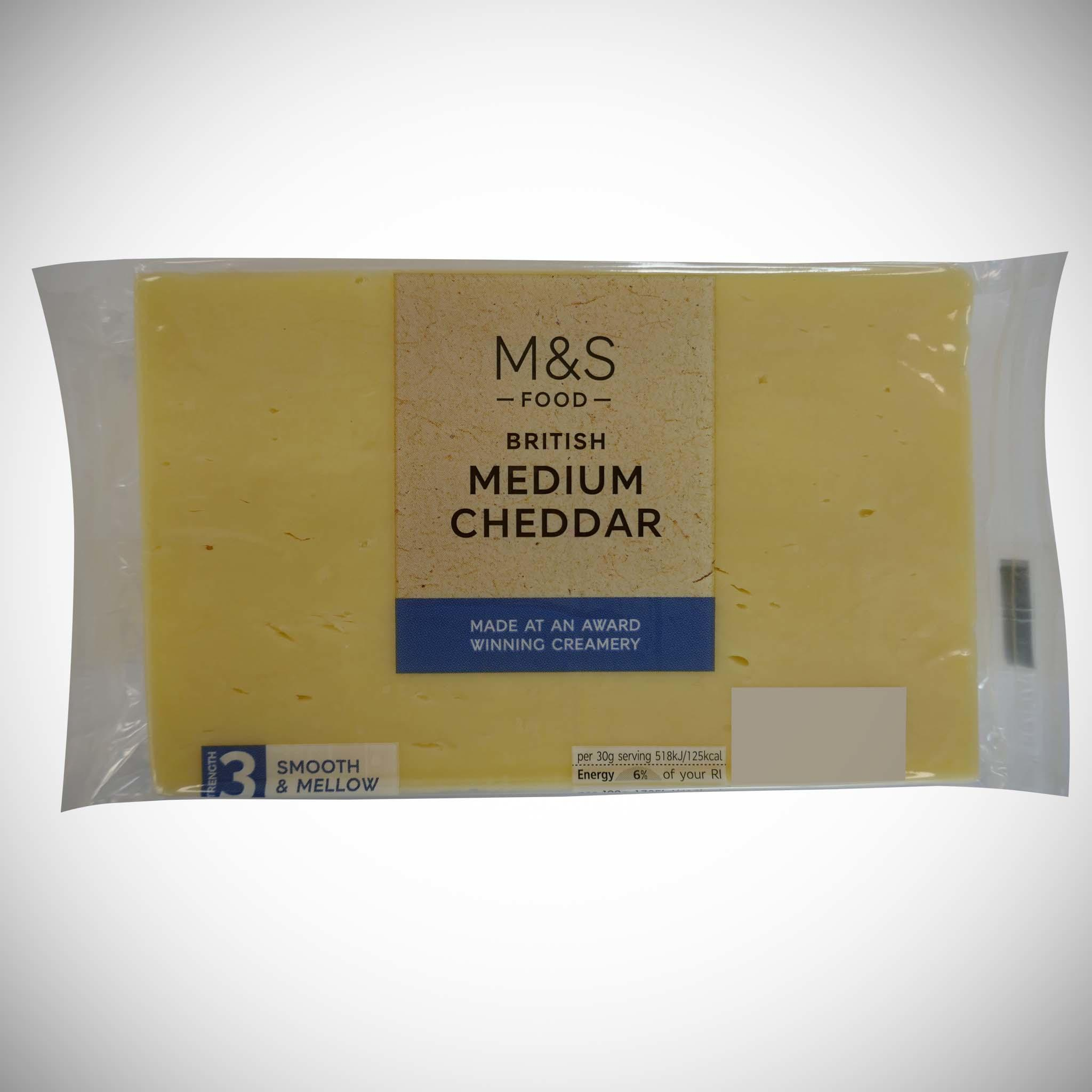 British Medium Cheddar 350g