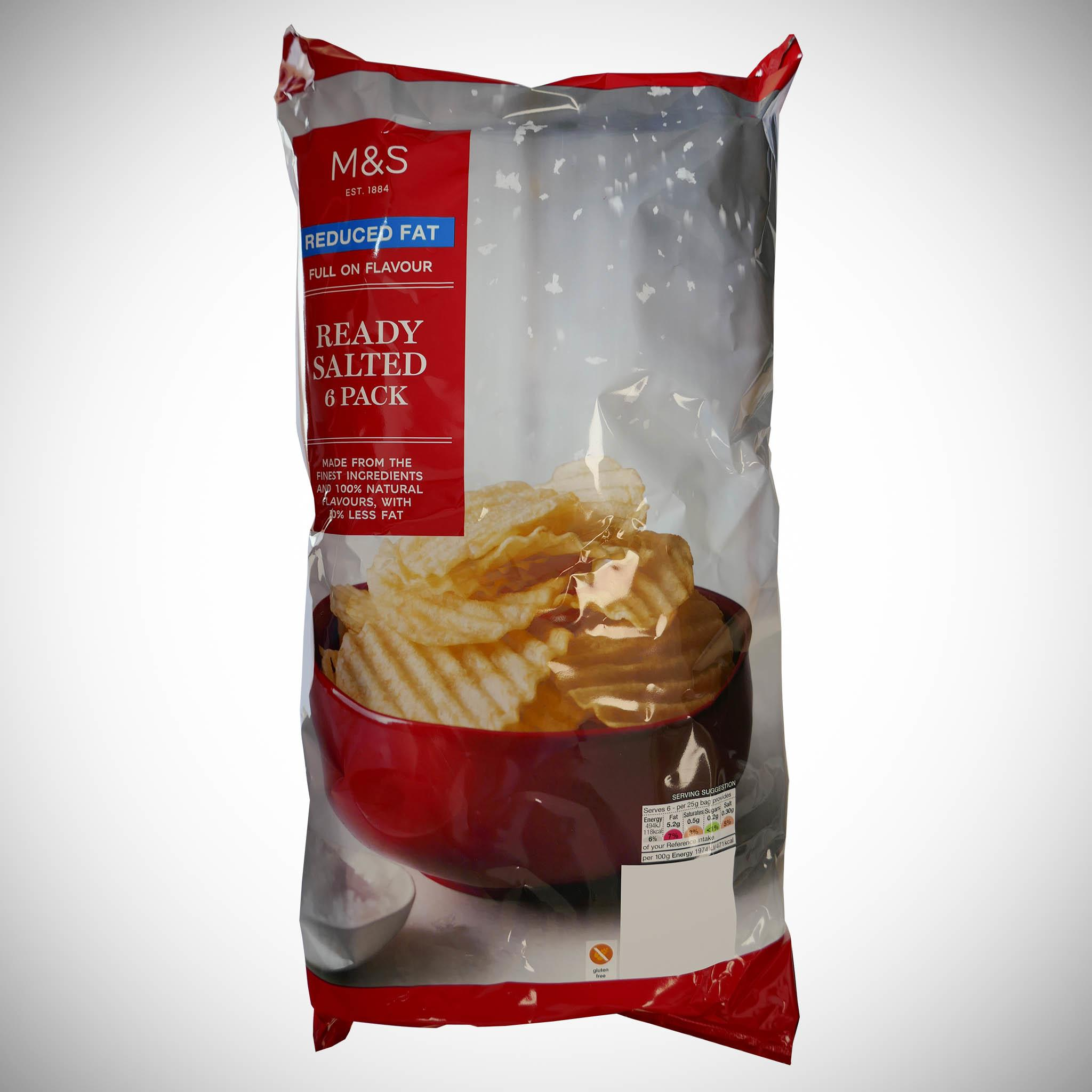 Reduced Fat Ready Salted Crisps
