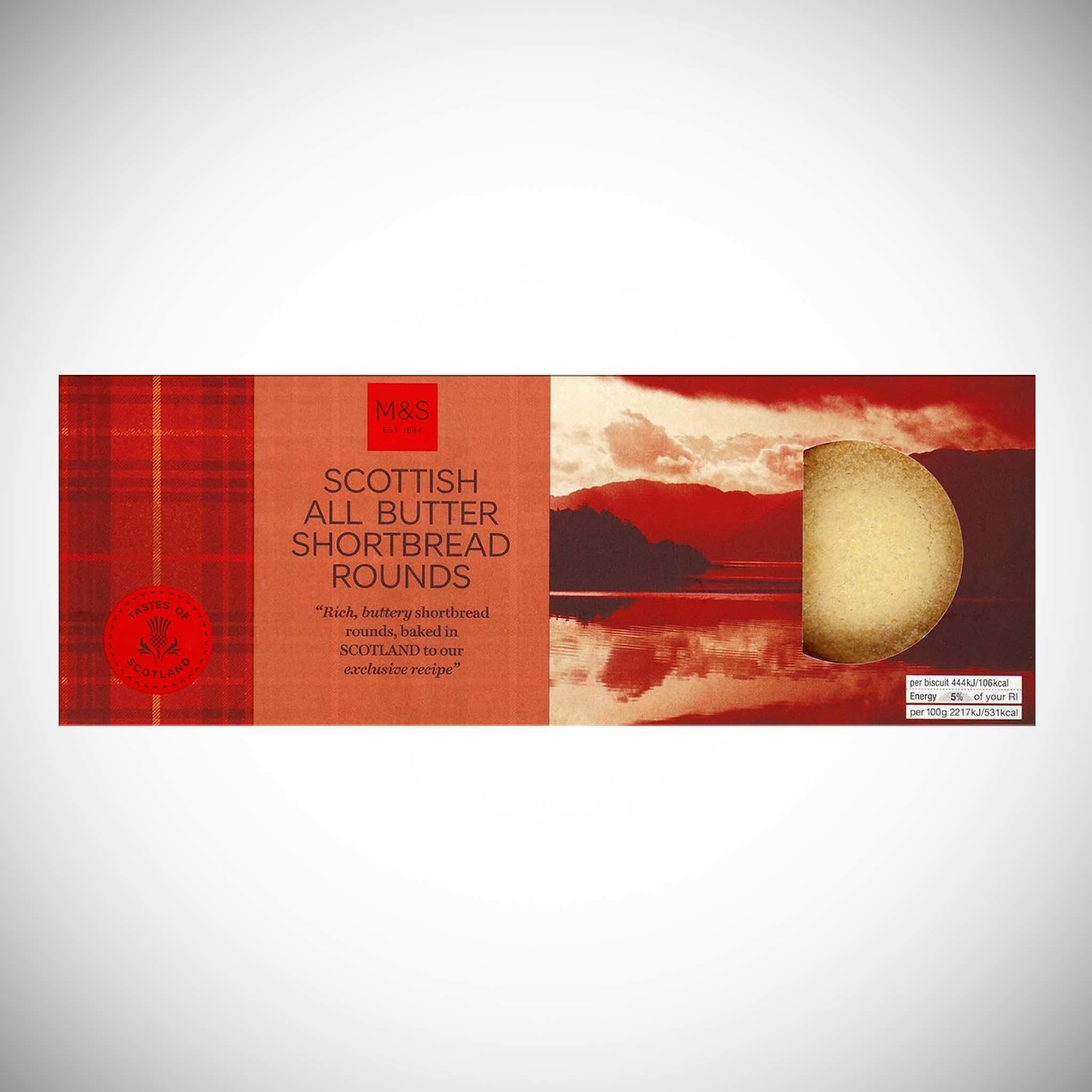 All Butter Shortbread Rounds 180g