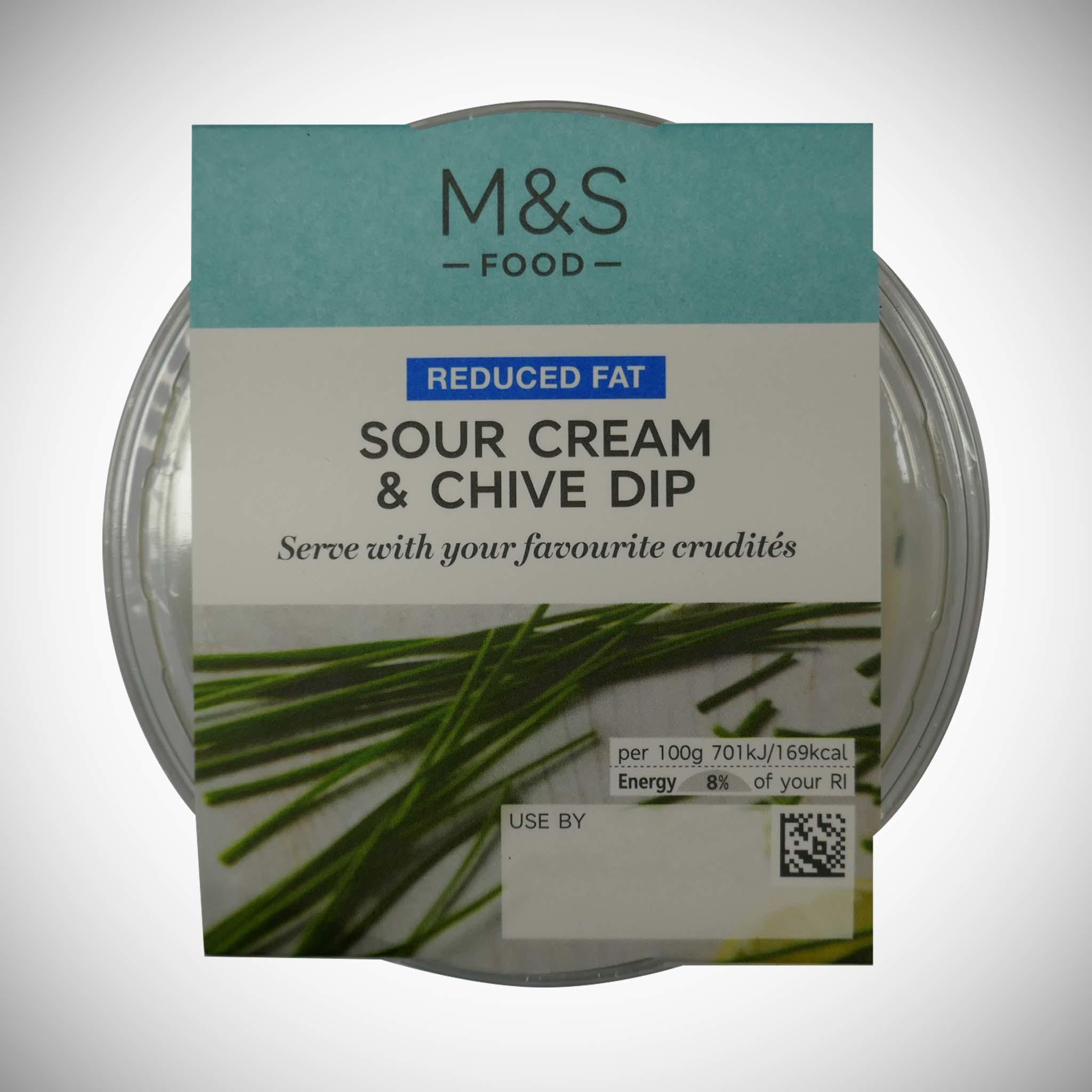 Reduced Fat Sour Cream & Chive Dip 230g