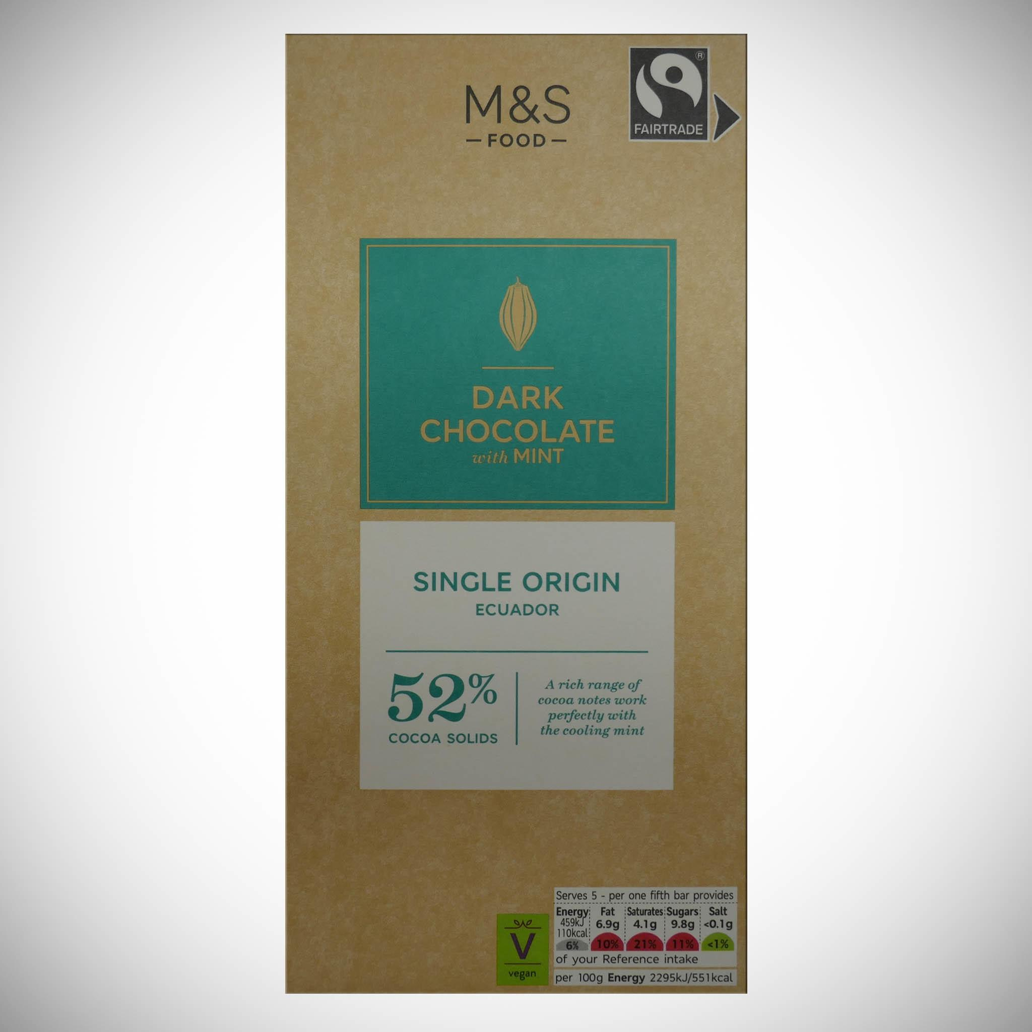 Dark Chocolate with Mint 100g