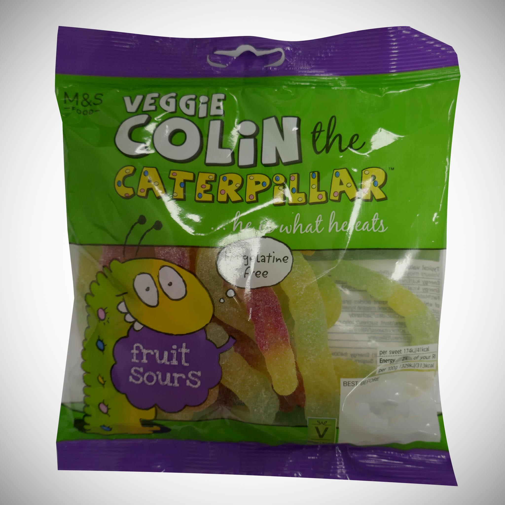 Colin the Caterpillar Fruit Flavoured Sours 170g