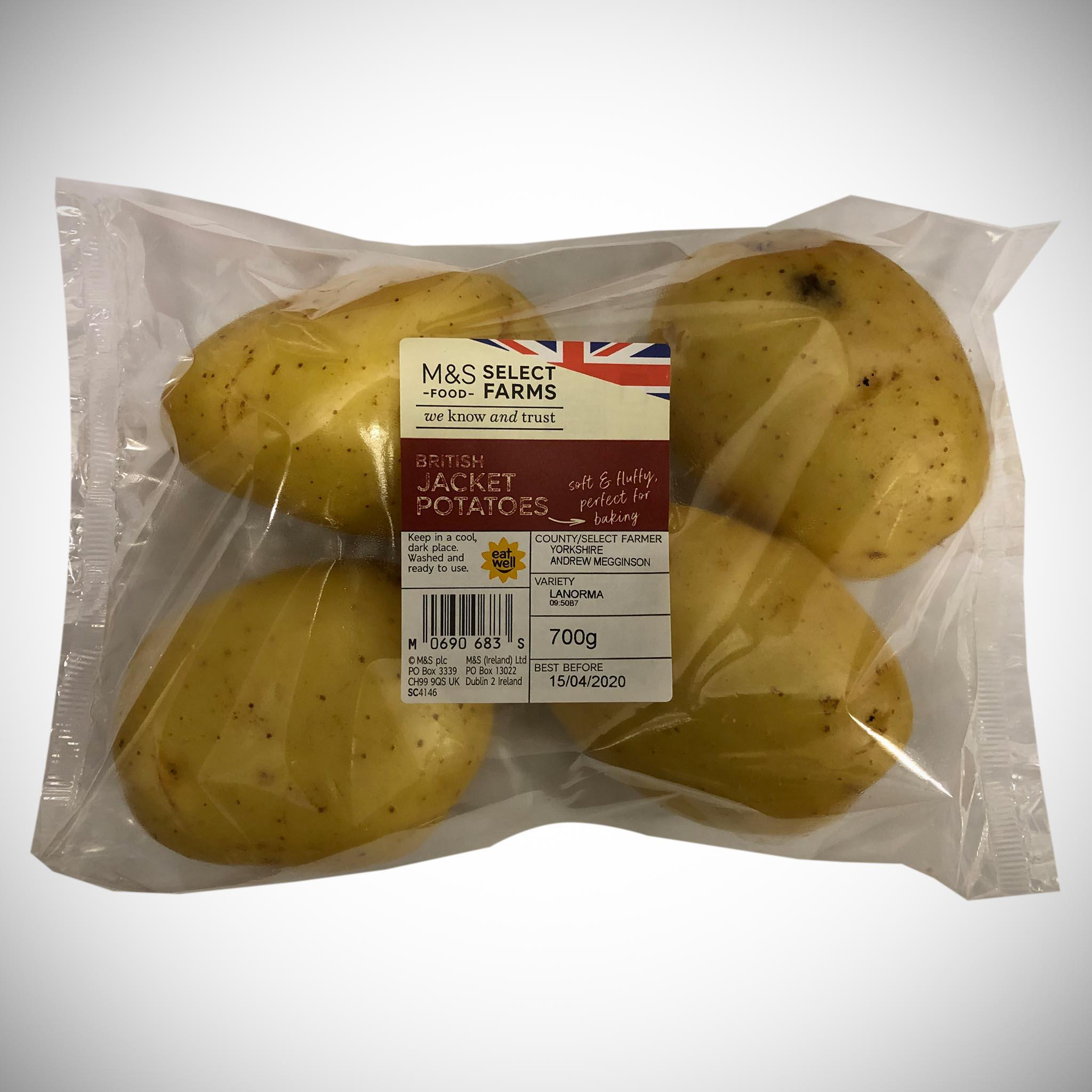 4 Jacket Potatoes 700g