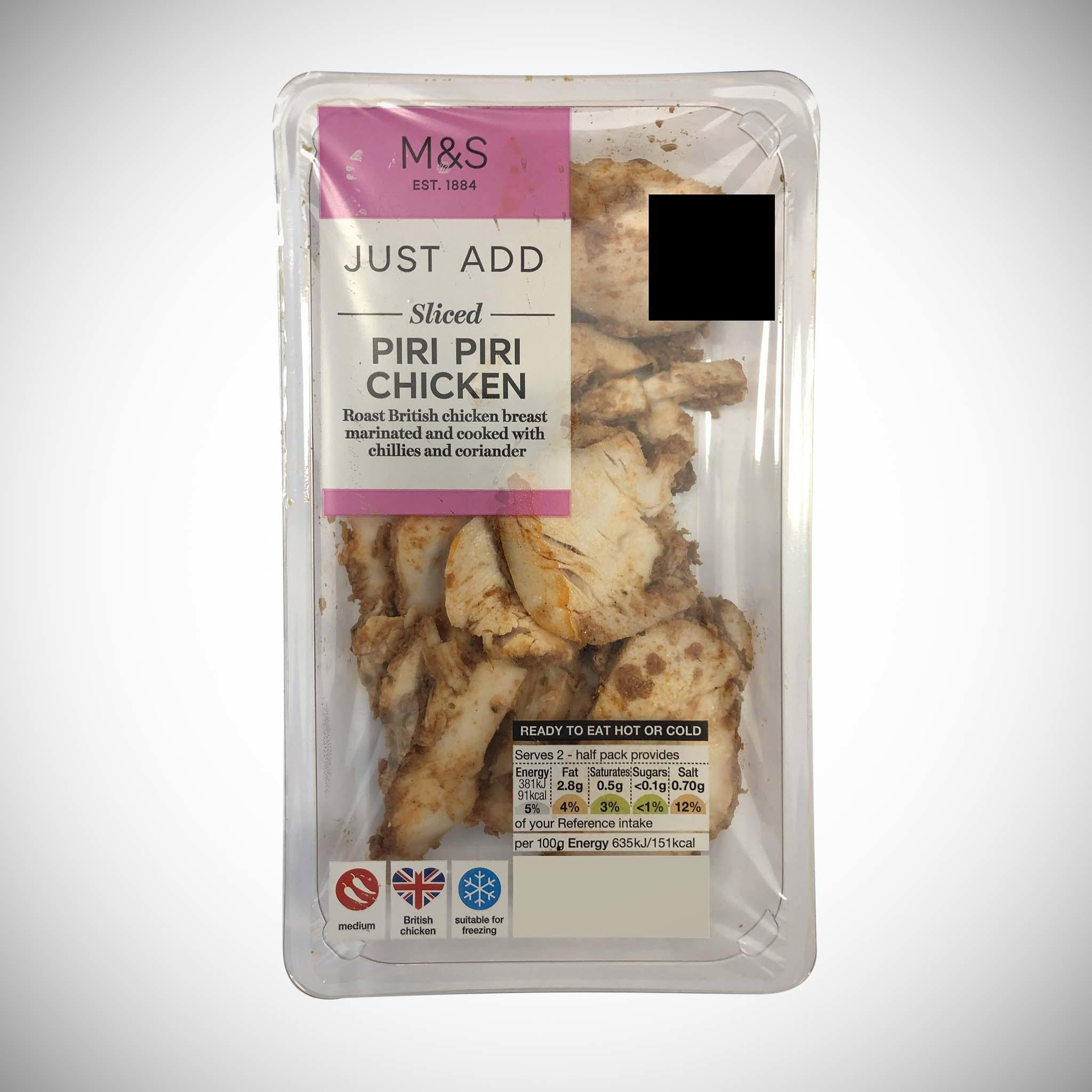 Just Add Sliced Piri Piri Chicken