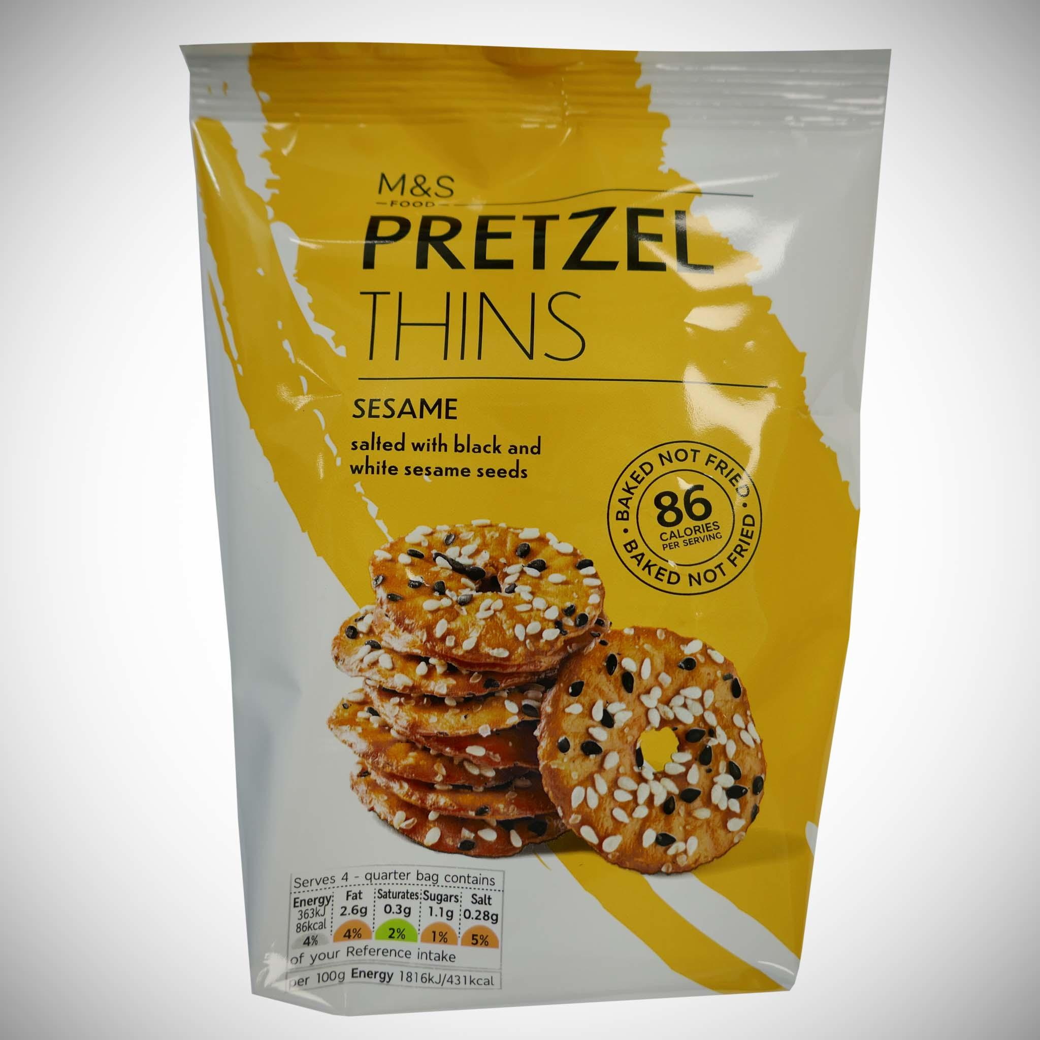 Sesame Pretzel Thins