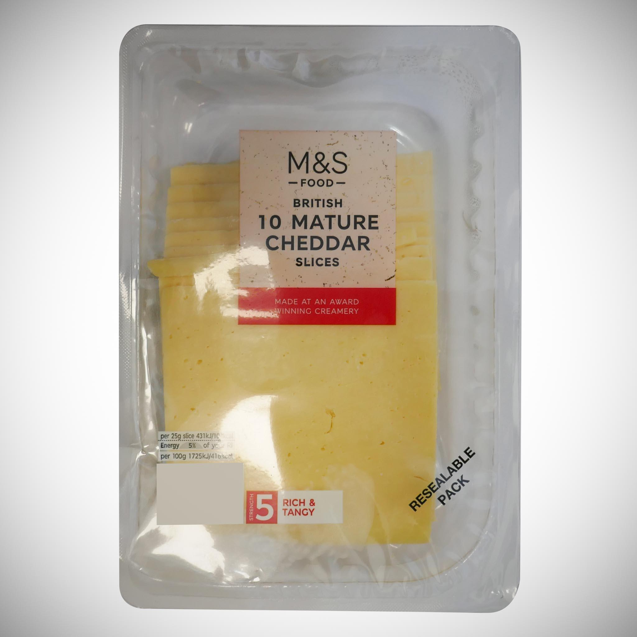 British 10 Mature Cheddar Slices 250g