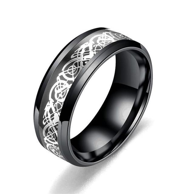 Black/silver ring