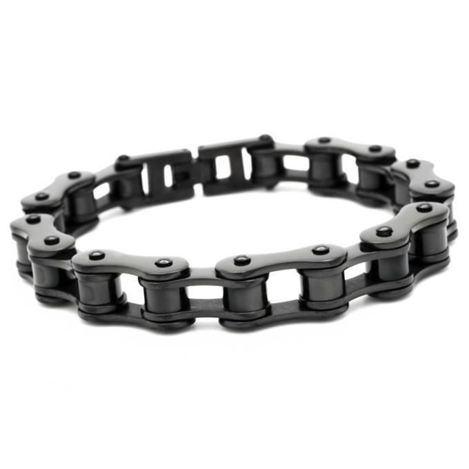 Black bike chain bracelet