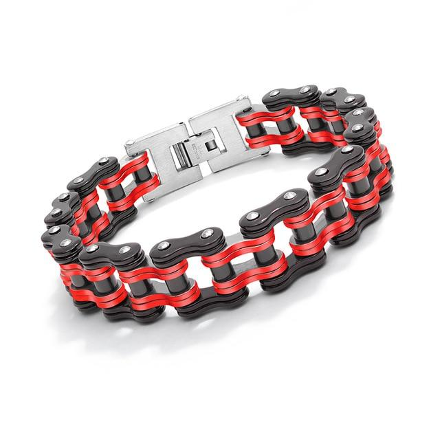 Black and red chunky bracelet