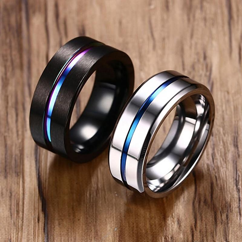 Black ring and silver ring