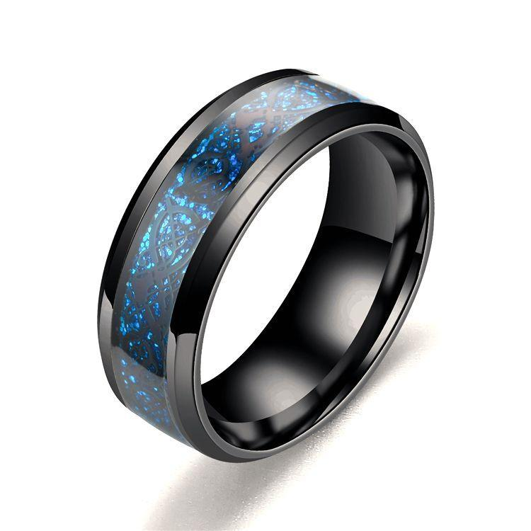 Black/blue ring