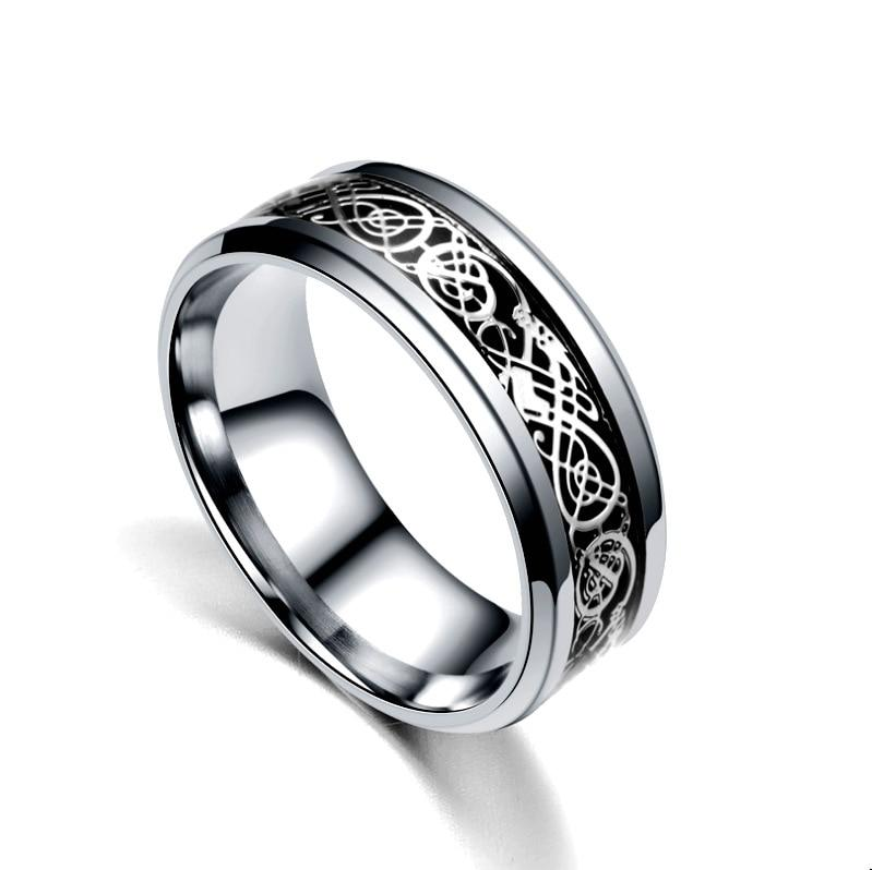 Silver/black ring