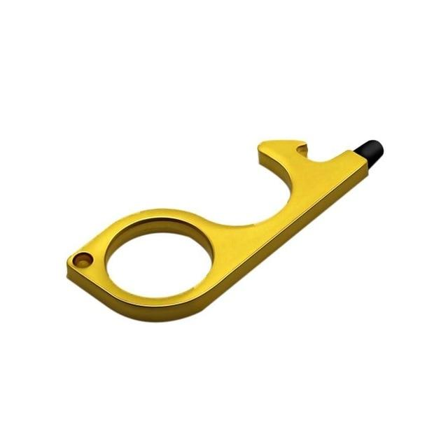 Single gold hygienic door opener stylus tip
