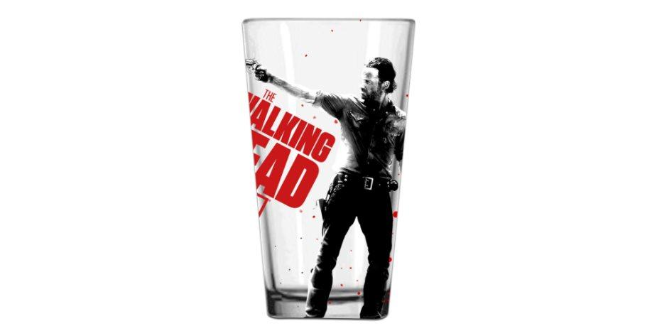Walking Dead Rick Clear Pint Glass