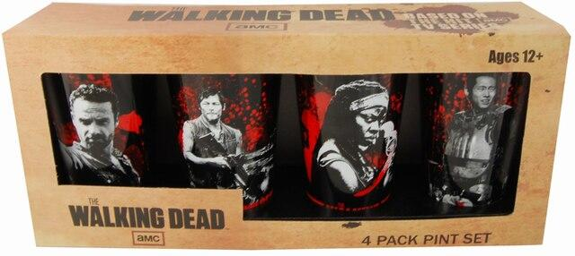 Walking Dead 4 Glass Set1