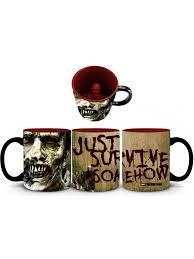 Just Funky Walking Dead zombie inside coffee mug