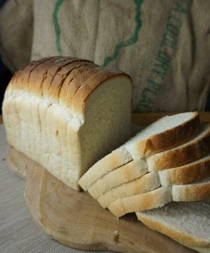Loaf of sliced white bakery bread