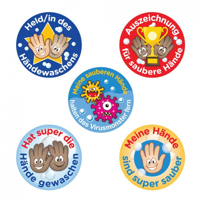 Stickers | Lavage des Mains Autocollants Récompense Allemand