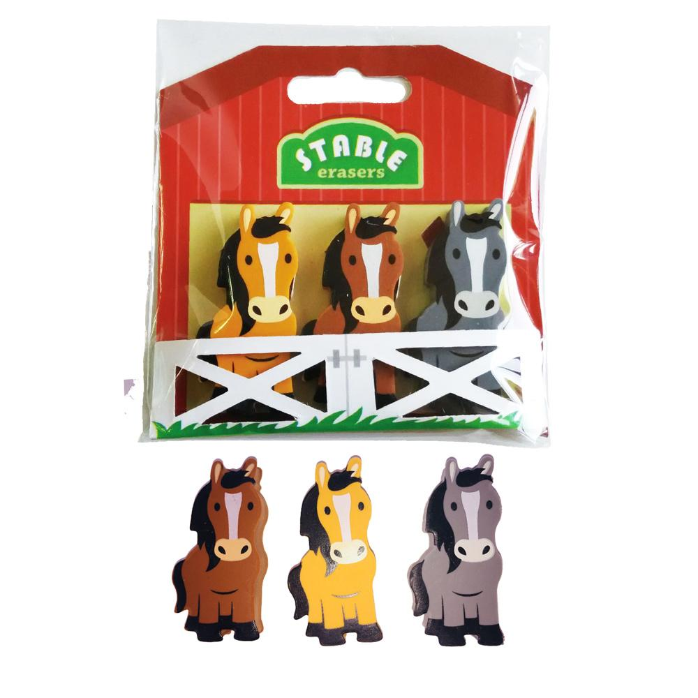 Papeterie Poney | Ensemble de Gomme Stable Poney