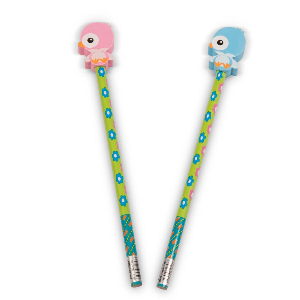 Class Gifts | Party Bags | Cute Chick Topper Pencils-Ideal for Easter