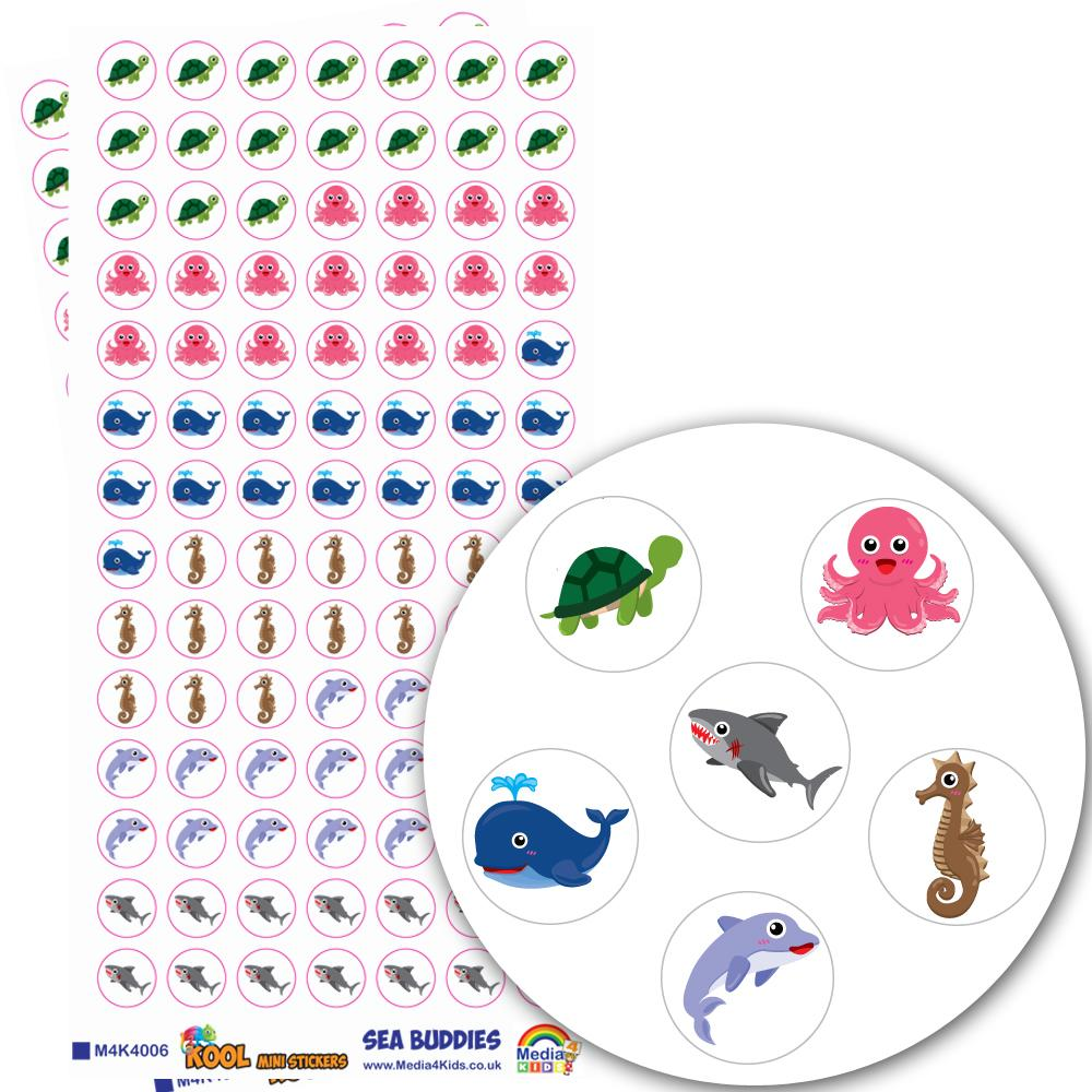Stickers Petits | La Vie Marine (Sea Buddies) Autocollants Mini
