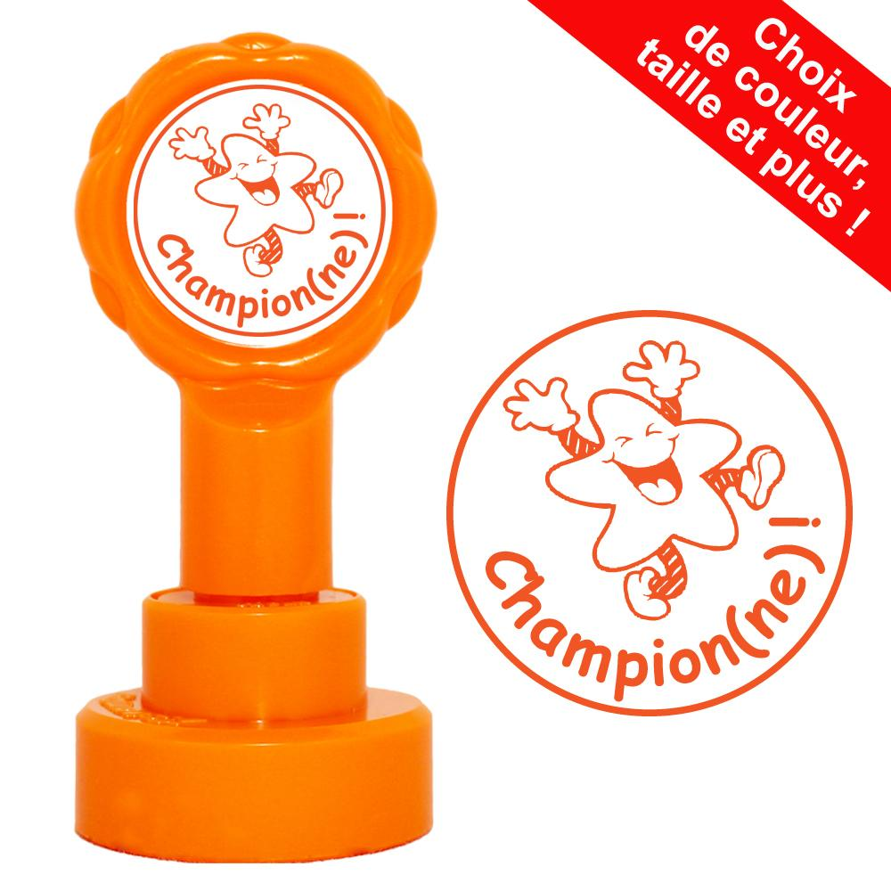 Tampons Enseignants | Champion(ne) ! Tampons Auto-Encreurs - 22mm