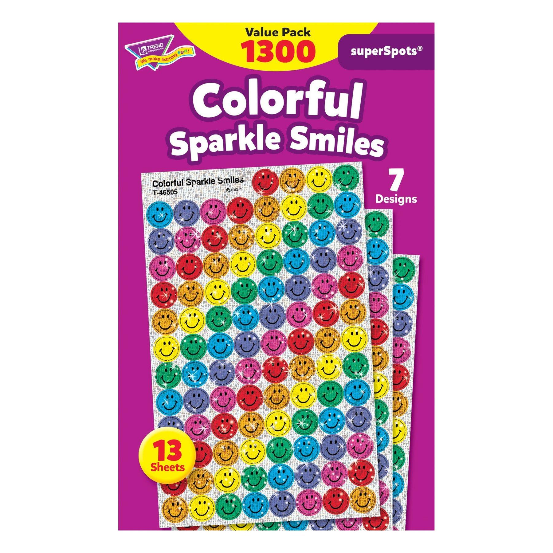 Stickers Emoji | Colorful Smiles SuperSpots® Autocollants Briliant Mini x 1300