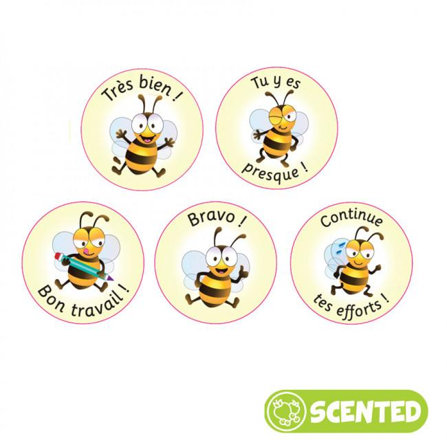 Autocollants Récompense | Stickers Parfumés Français, Bee Friends / Amis Abeilles