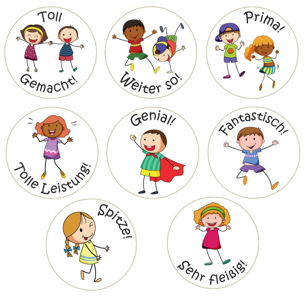Stickers Enseignants | Amis de Classe (Classroom Friends) - Autocollants Récompense Allemand