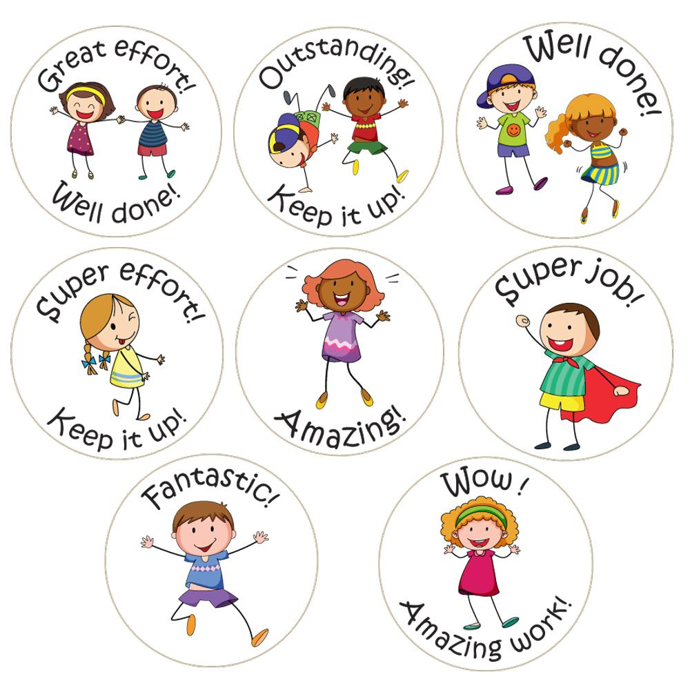 Stickers Enseignants | Classroom Friends Kool Kids (World Kids) - Autocollants Récompense Anglais