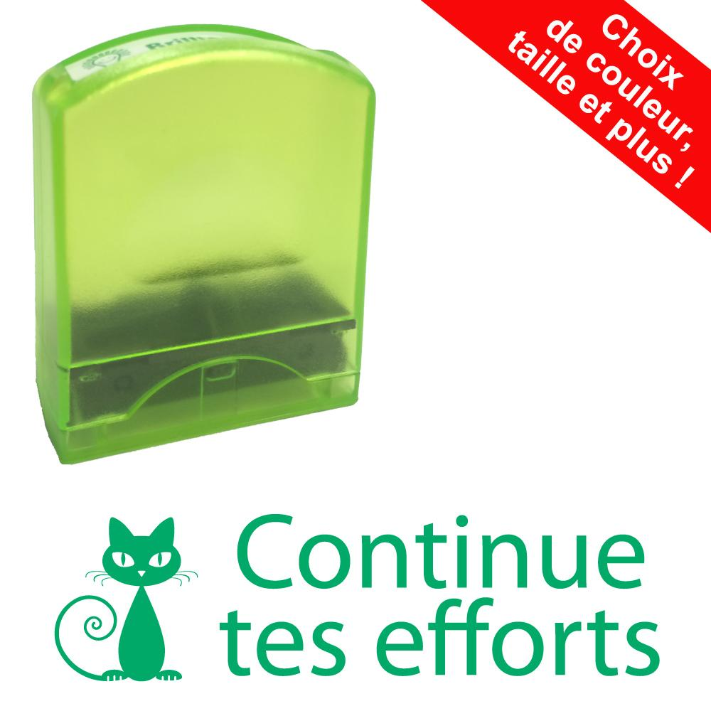 Tampons Enseignants | Continue tes efforts Tampons Auto-Encreurs - 33x9mm