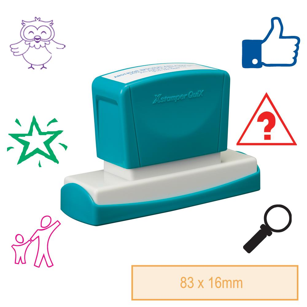 Tampon Auto-Encreur Personnalisé Rectangle Grand | Tampon Auto-Encreur Personnalisé Rectangle - 83x16mm