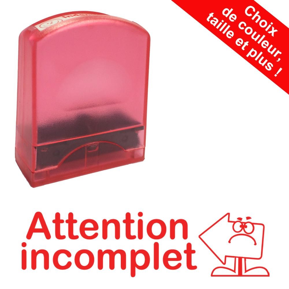 Tampons Encreurs | Attention incomplet Tampons Auto-Encreurs - 33x9mm