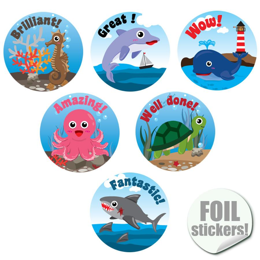 Stickers Recompense | La Vie Marine (Sea Buddies) Autocollants Récompense Brilliante Anglais