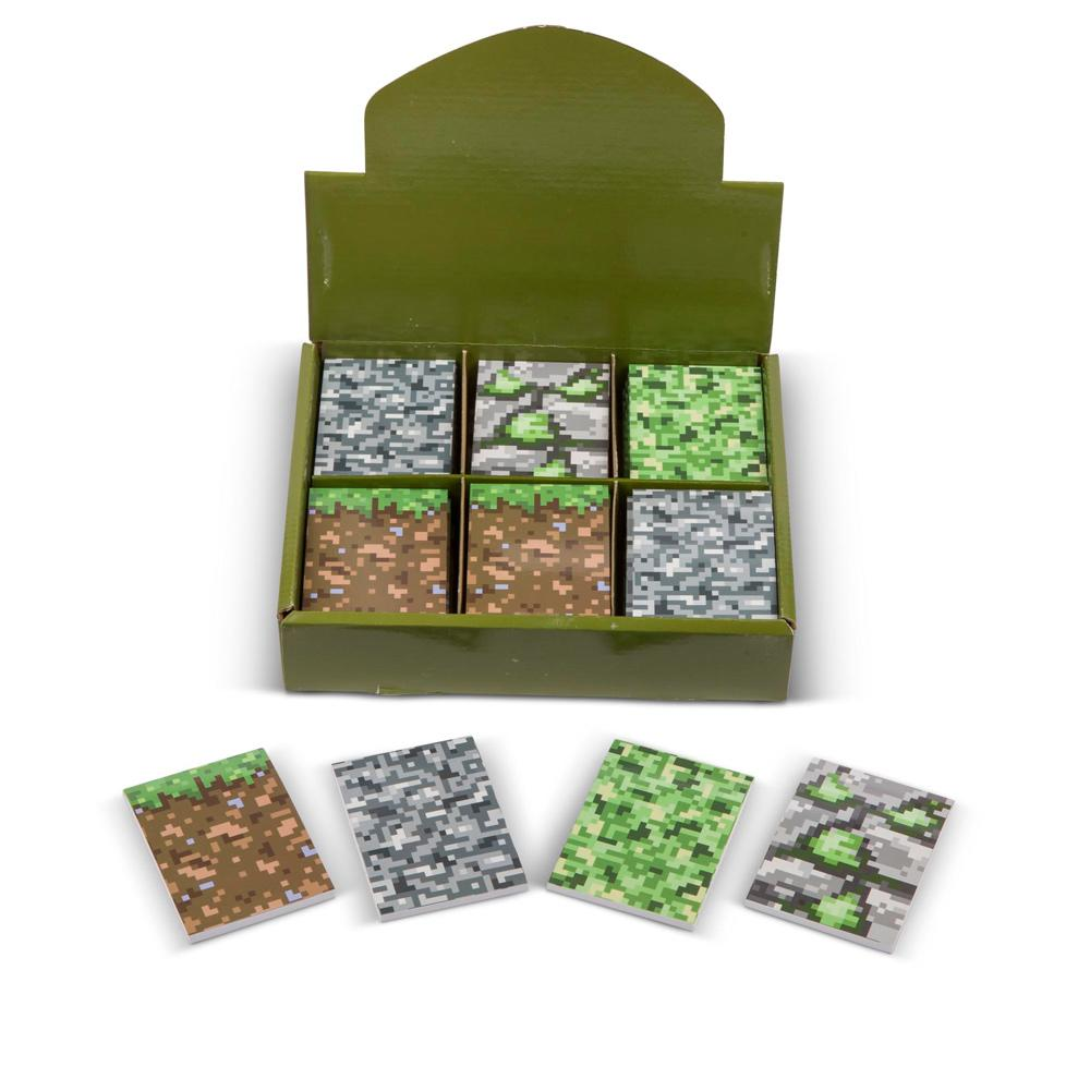 "Bloc-notes | ""Block"" Pixel / Camouflage (semblable à Minecraft) Carnets Pour Enfants"