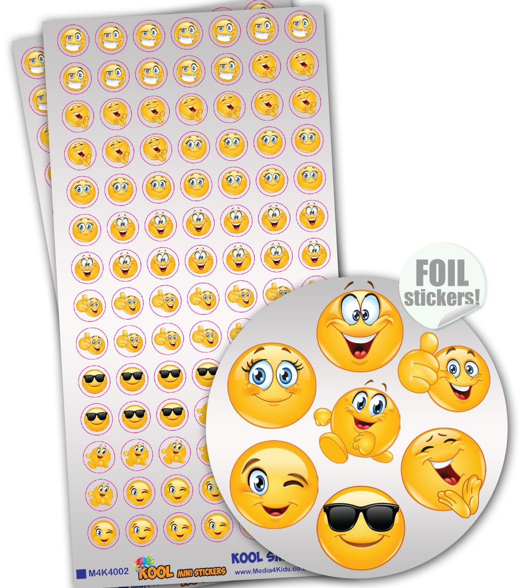 Stickers Petits | Kool Smiles Emoji Autocollants Brilliante Mini